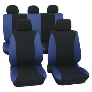 Blue Black Car Seat Covers For Ford Fusion 2007 Onwards