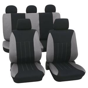 Seat Covers Grey Black Car