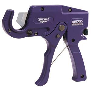 Plastic Pipe Cutting, Draper Expert 31985 35mm Capacity Plastic Pipe or Moulding Cutter, Draper