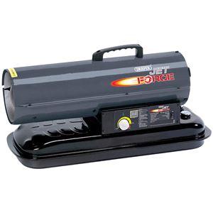 Diesel, Kerosene and Paraffin Heaters, Draper 32286 Jet Force, Diesel and Kerosene Space Heater (75,000 BTU/22kW), Draper