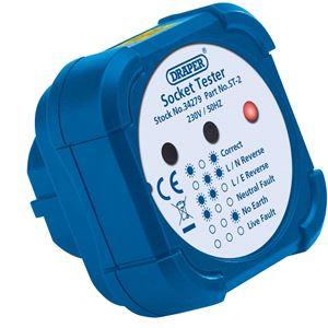 Testers and Detectors, Draper 34279 13A Socket Tester, Draper