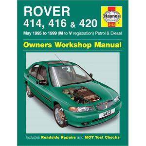 Haynes DIY Workshop Manuals, Haynes Manual, Rover 414, 416 and 420 Petrol and Diesel (May 95 - 98), Haynes