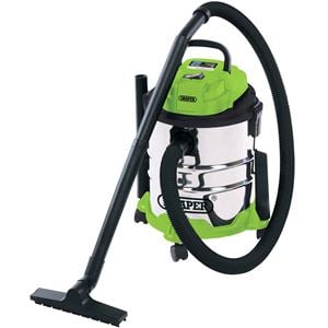 Vacuum Cleaners, Draper 35569 20L Wet and Dry Vacuum Cleaner with Stainless Steel Tank (1250W), Draper
