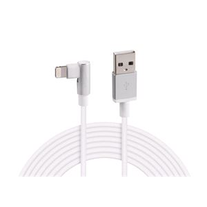 Phone Accessories, Apple Lightning 90° Angle Charging Cable - 200 cm - White,