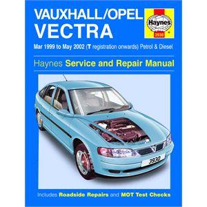 Haynes DIY Workshop Manuals, Vauxhall/Opel Vectra Petrol & Diesel (Mar 99 - May 02) T Reg onwards, Haynes