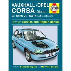 Haynes DIY Workshop Manuals, VAUXHALL CORSA DIESEL, Haynes