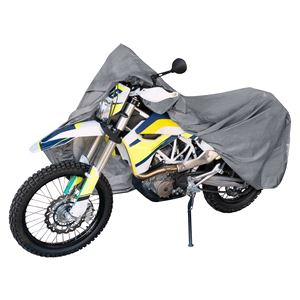 Motorbike and Scooter Covers, Motorbike Cover Grey Size XL 255x110x135cm, Walser