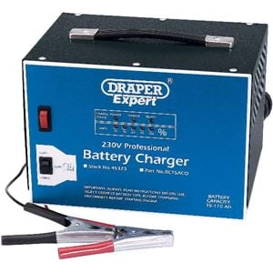 Battery Charger, Draper Expert 45373 12V Battery Charger with Constant Output Mode, Draper