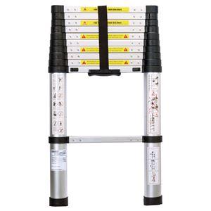 Ladders and Platforms, Draper 52366 11 Rung Aluminium Telescopic Ladder to EN131, Draper
