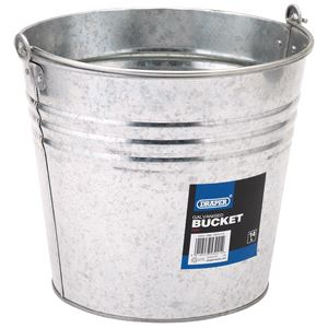Buckets, Draper 53241 Galvanised Steel Bucket (14L), Draper