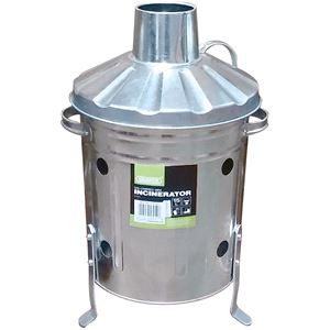 Waste Collection, Composting and Tidying, Draper 53250 Galvanised Mini Incinerator (15L), Draper