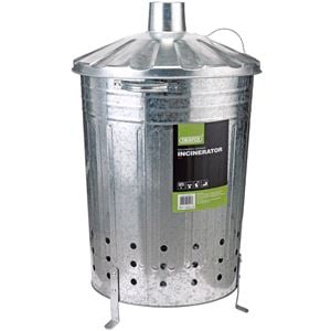 Waste Collection, Composting and Tidying, Draper 53253 Galvanised Garden Incinerator (85L), Draper