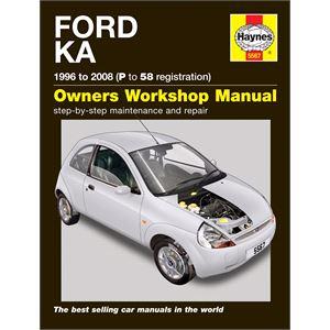 Haynes DIY Workshop Manuals, Ford Ka (96 - 08) P to 58 Reg, Haynes