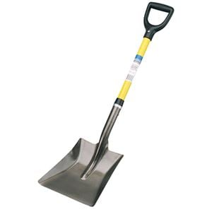 snow shovels, Draper 57567 Fibreglass Shafted Square Mouth Builders Shovel, Draper