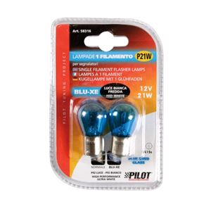 Bulbs - by Bulb Type, 12V Blu-Xe single filament lamp - P21W - 21W - BA15s - 2 pcs  - D/Blister, Pilot