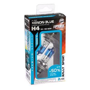 Bulbs - by Bulb Type, 12V Xenon Blue halogen lamp +50% light - (H4) - 100/80W - P43t - 2 pcs  - Box, Pilot