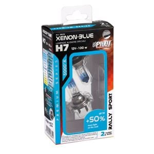 Bulbs - by Bulb Type, 12V Xenon Blue halogen lamp +50% light - (H7) - 100W - PX26d - 2 pcs  - Box, Pilot