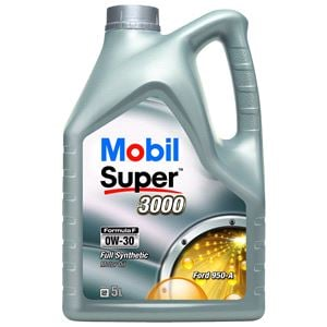 Engine Oils and Lubricants, Mobil Super 3000 Formula F 0W-30 Fully Synthetic Engine Oil - 5 Litre, MOBIL