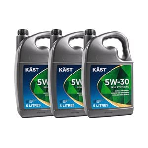 Engine Oils and Lubricants, KAST 5w30 Semi Synthetic Engine Oil. 15 Litre, KAST