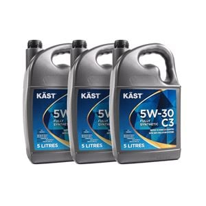 Engine Oils and Lubricants, KAST 5w30 Fully Synthetic C3 Engine Oil. 15 Litre, KAST