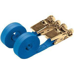 Straps and Ratchet Tie Downs, Draper 60968 400kg Ratcheting Tie Down Strap Sets (4.5M x 25mm) (2 Piece), Draper