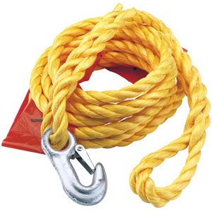 Towing Accessories, Draper 63410 2000kg Capacity Tow Rope with Flag, Draper