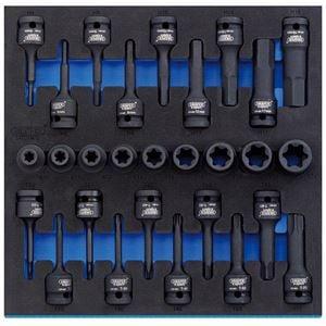 Draper 16308 1//2in Sq Dr 100mm Long Metric Hexagonal Socket Bit Set 9 Piece