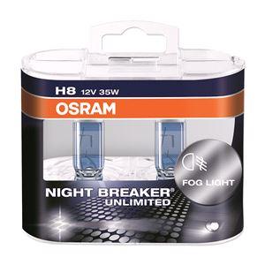 Bulbs - by Bulb Type, Osram Night Breaker Unlimited H8 Bulb  - Twin Pack, Osram