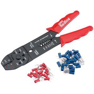 Crimping Tools, Draper Redline 67654 200mm 4 Way Crimping Tool Kit, Draper