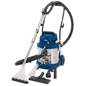 Vacuum Cleaners, Draper 75442 20L 3 in 1 Wet and Dry Shampoo/Vacuum Cleaner (1500W), Draper