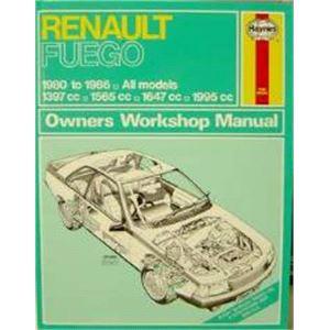 Haynes DIY Workshop Manuals, Renault Fuego (1980-1986) Haynes Manual, Haynes