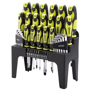 Screwdriver Sets, Draper 78619 Screwdriver, Hex Key and Bit Set (Green) (44 Piece), Draper