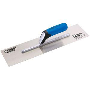 Trowels, Floats and Hawks, Draper Expert 82149 Soft Grip Stainless Steel Plastering Trowel (455mm), Draper