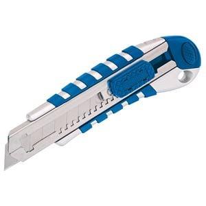 Trimming Knives, Draper Expert 83436 18mm Soft Grip Retractable Knife with Seven Segment Blade, Draper