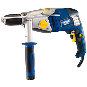 Drills and Cordless Drivers, Draper Expert 83586 Hammer Drill with Keyless Chuck (1050W), Draper