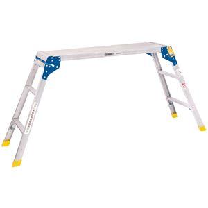 Ladders and Platforms, Draper 83998 3 Step Aluminium Working Platform, Draper