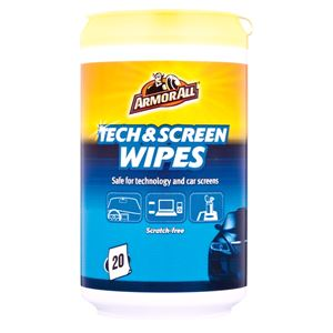Glass Care, ArmorAll® Tech & Screen Wipes - Pack of 20, ARMORALL