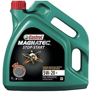 Engine Oils and Lubricants, Castrol Magnatec 5W20 E Stop-Start Fully Synthetic Engine Oil, 5 Litre, Castrol