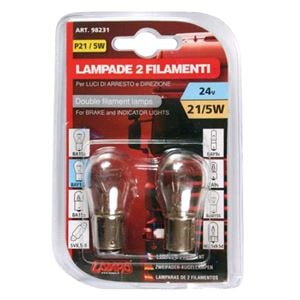 Bulbs - by Bulb Type, 24V Double filament lamp - P21/5W - 21/5W - BAY15d - 2 pcs  - D/Blister, Lampa