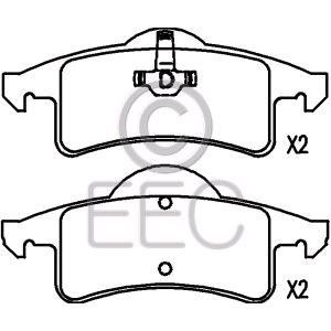 eec rear brake pads full set for rear axle for jeep grand cherokee Future Jeep Grand Wagoneer eec rear brake pads full set for rear axle for jeep grand cherokee mk ii 1998 to 2005 3 1 td 140hp 3125cc