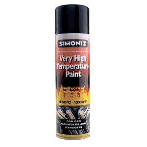 Specialist Paints, Simoniz Very High Temperature Paint - Black 500ml., Simoniz