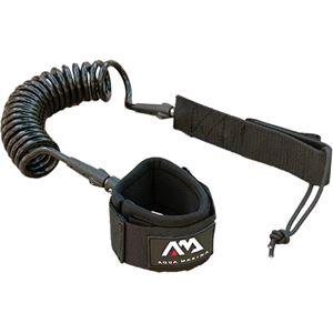 SUP Accessories, Aqua Marina Paddle Board Coil Leash - 8 Foot, Aqua Marina