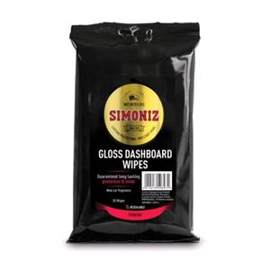 Dash, Rubber and Plastics, Simoniz Gloss Dashboard Wipes - Protected Glossy Finish, Simoniz