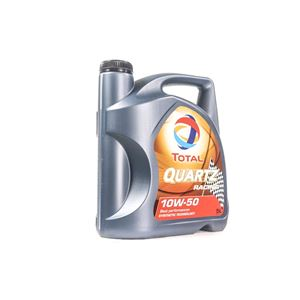 Engine Oils and Lubricants, TOTAL Quartz Racing 10w50 Fully Synthetic Engine Oil. 5 Litre, Total