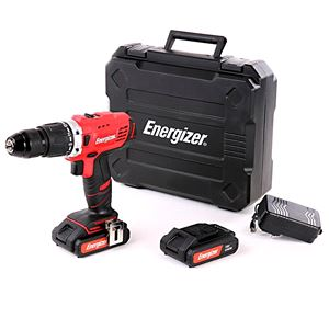 Drills and Cordless Drivers, Energizer 18v Combi Drill + 2 FREE Batteries (2 x 2Ah), ENERGIZER