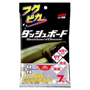 Dash, Rubber and Plastics, Soft99 Fukupika Luxurious Dashboard Wipes - 7 sheets, Soft99