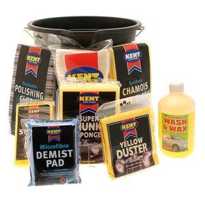 Car Care Kits, Kent Car Valet Kit With Bucket - 8 Piece Set, KENT