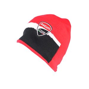 Hats, DUCATI RACING BEANIE RED/BLACK,