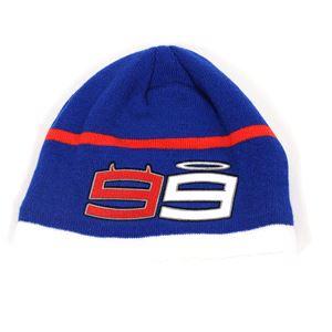 Hats, BEANIE YAMAHA LORENZO WHITE/BLUE,