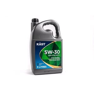 Engine Oils and Lubricants, KAST 5w30 Semi Synthetic Engine Oil. 5 Litre, KAST
